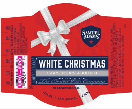 Sam Adams White Christmas.Sam Adams White Christmas 12 Oz Nr 12 Pk Rt19
